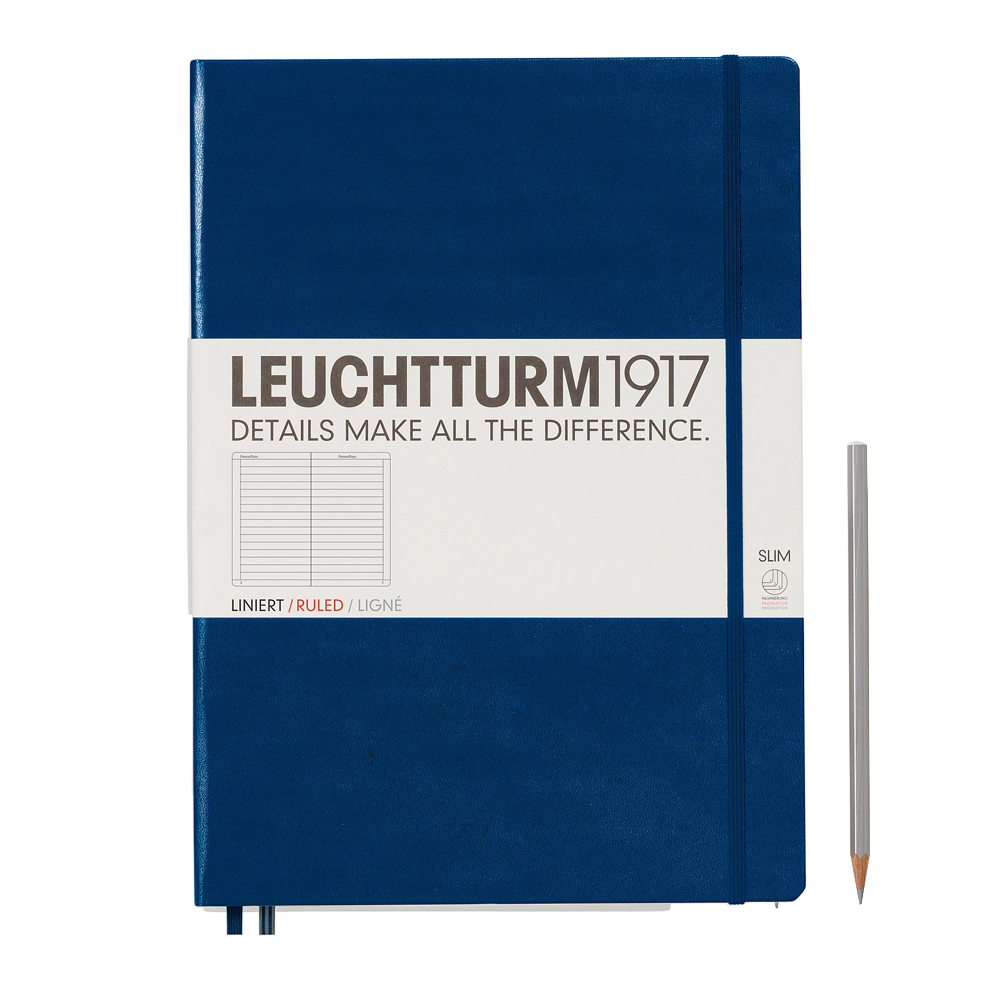 Leuchtturm1917 Master Slim Hardcover Notebook navy lined