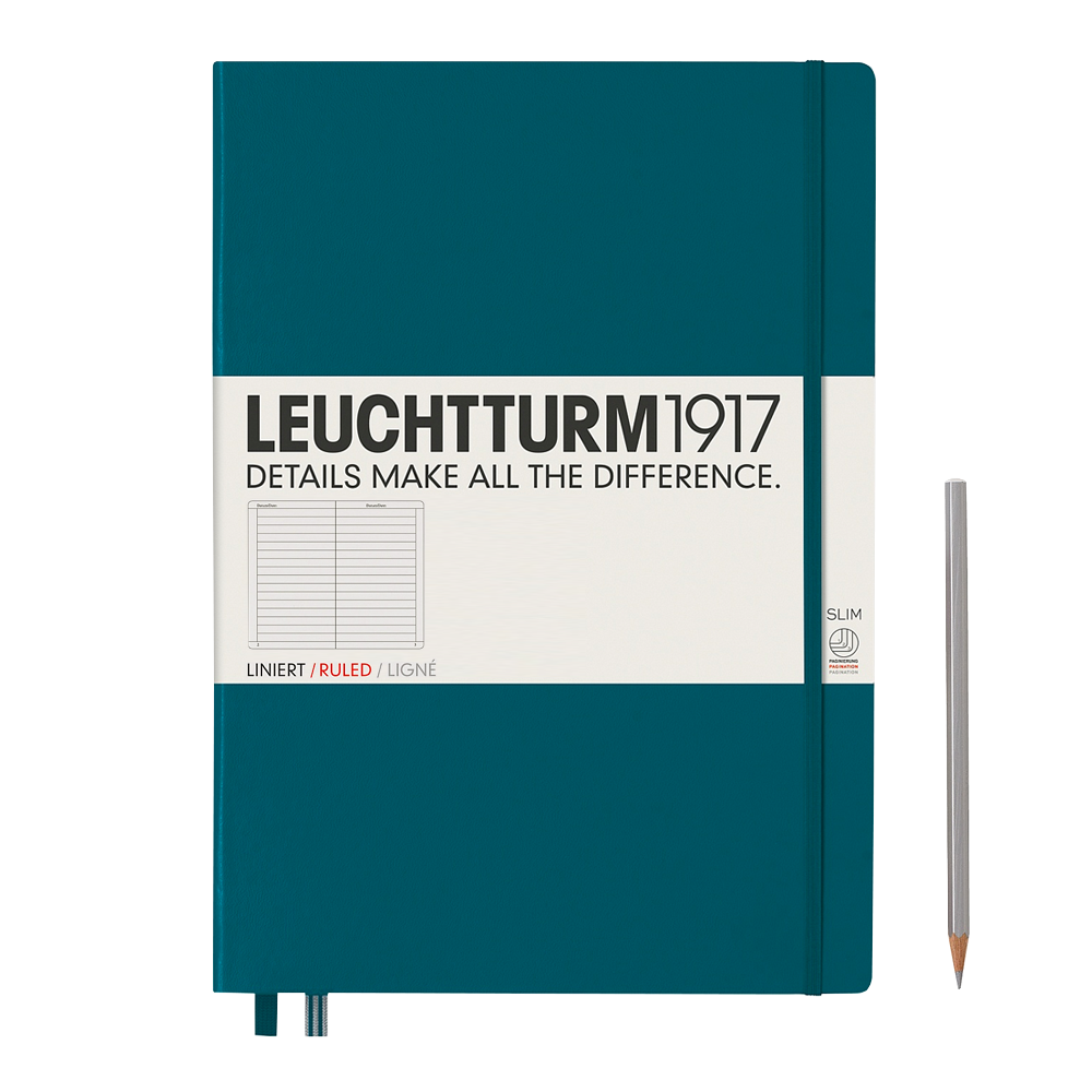 Leuchtturm1917 Master Slim Hardcover Notebook lined