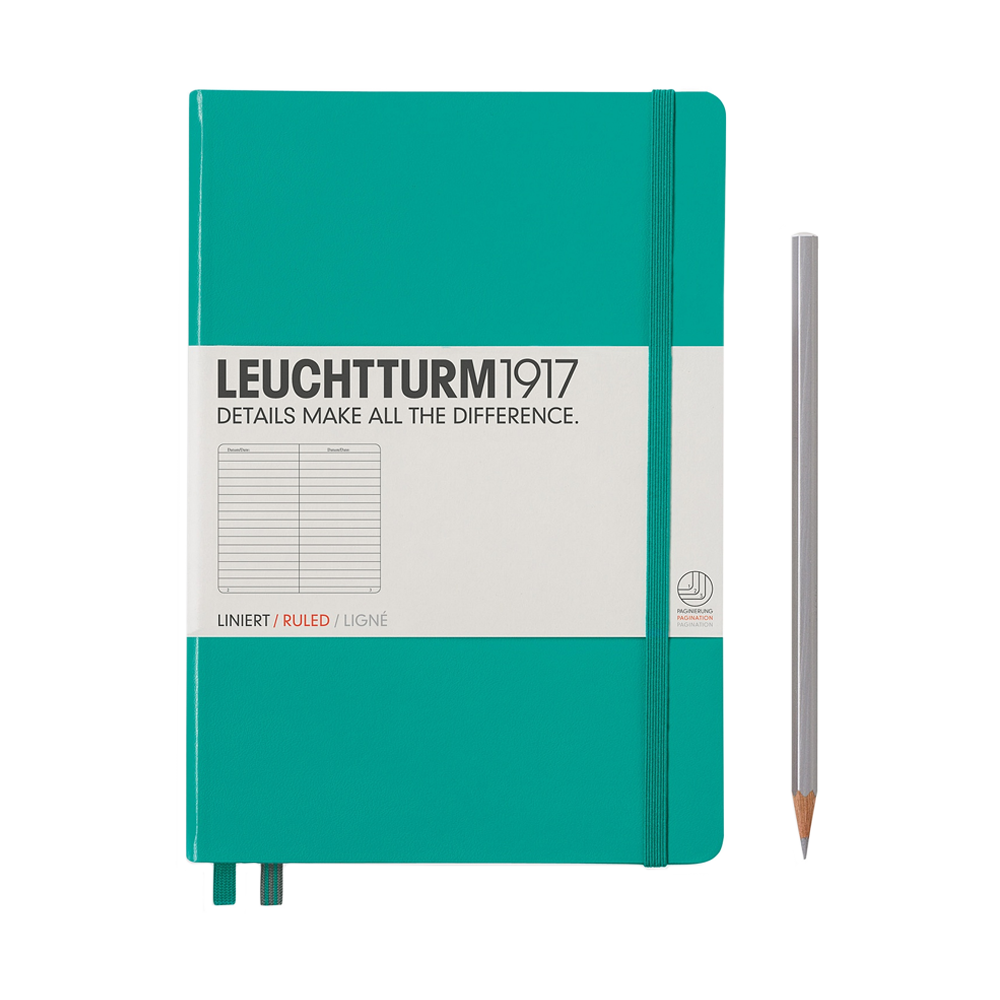 Leuchtturm1917 Medium Hardcover Notebook Lined Emerald