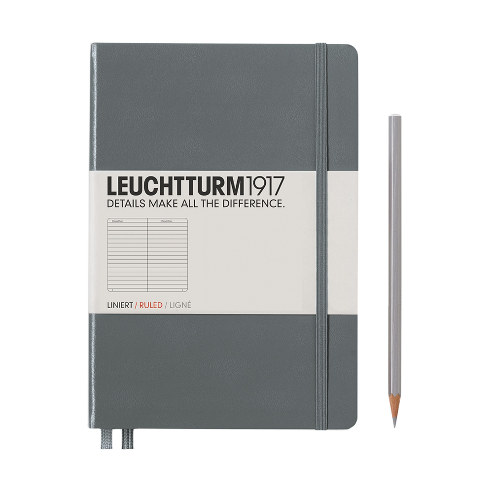 Leuchtturm1917 Medium Hardcover Notebook Lined Anthracite