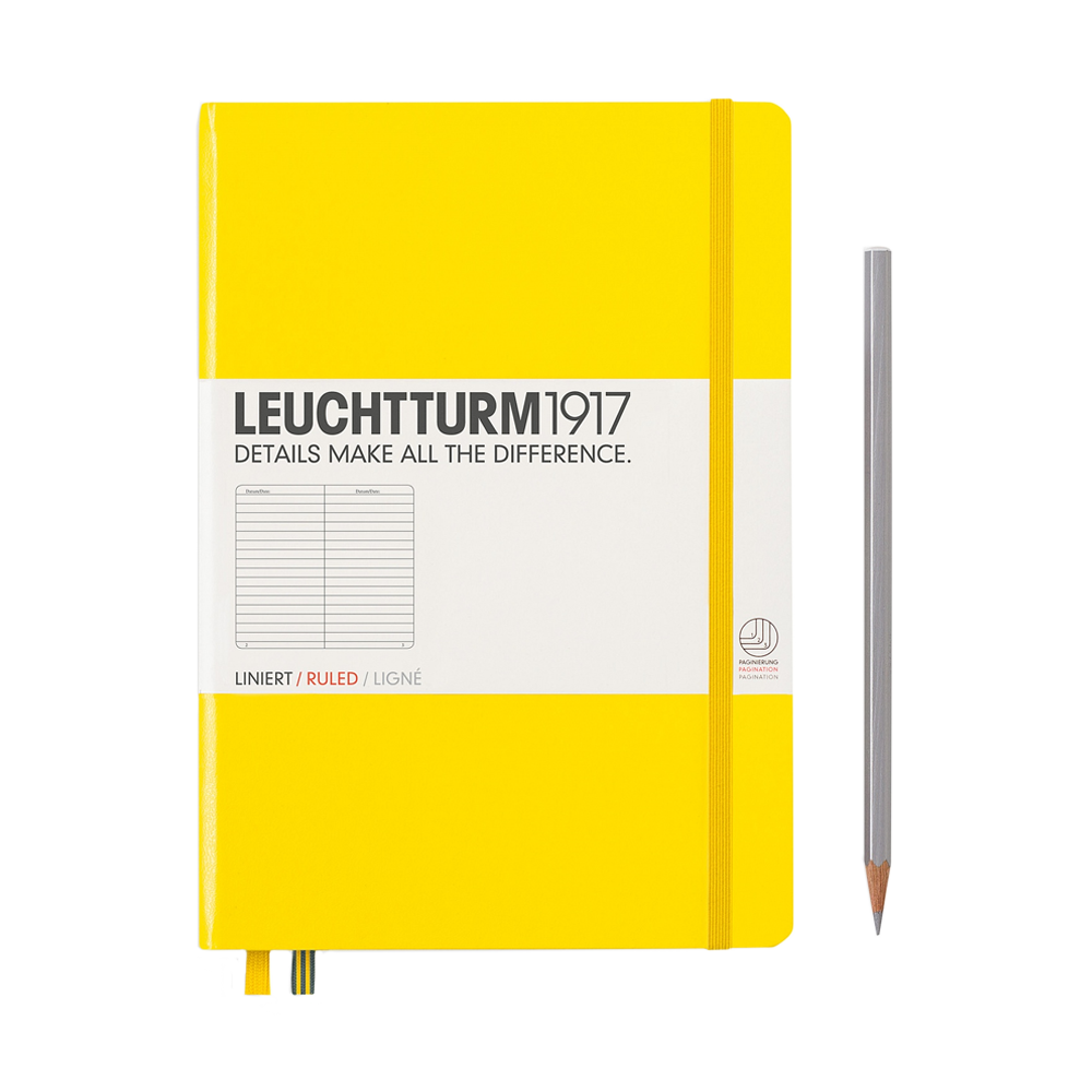 Leuchtturm1917 Medium Hardcover Notebook Lined Lemon Yellow
