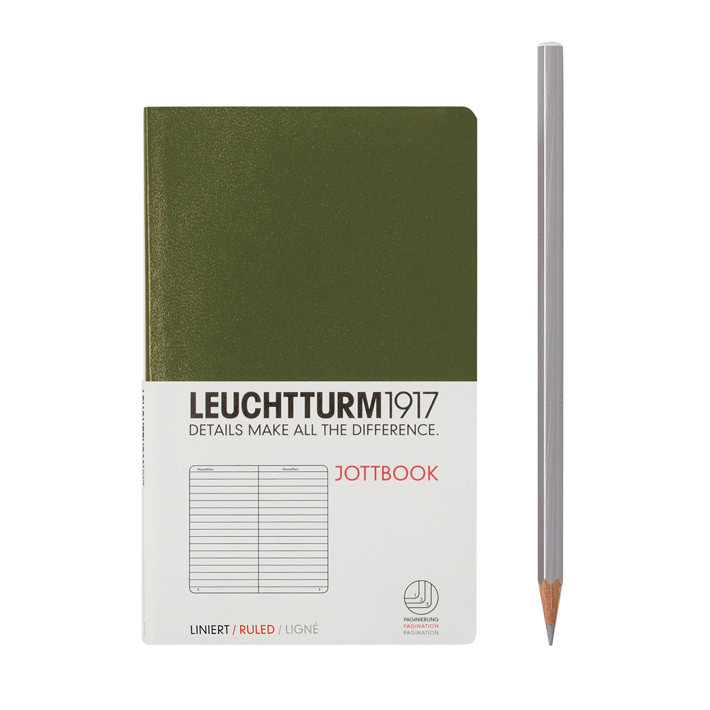Leuchtturm1917 Pocket Jottbook Army Green