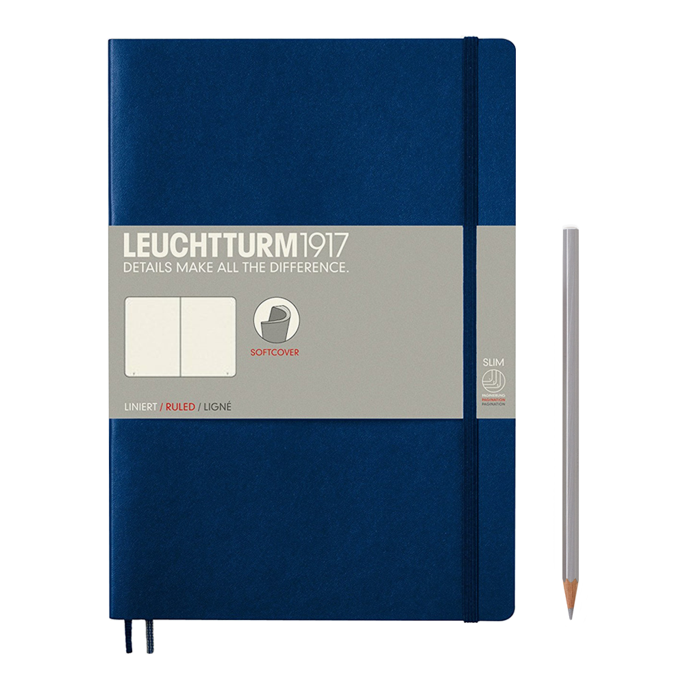 Leuchtturm1917 Composition Softcover Notebook blank navy