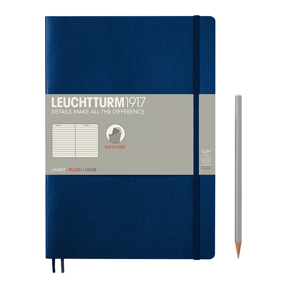 Leuchtturm1917 Composition Softcover Notebook lined navy