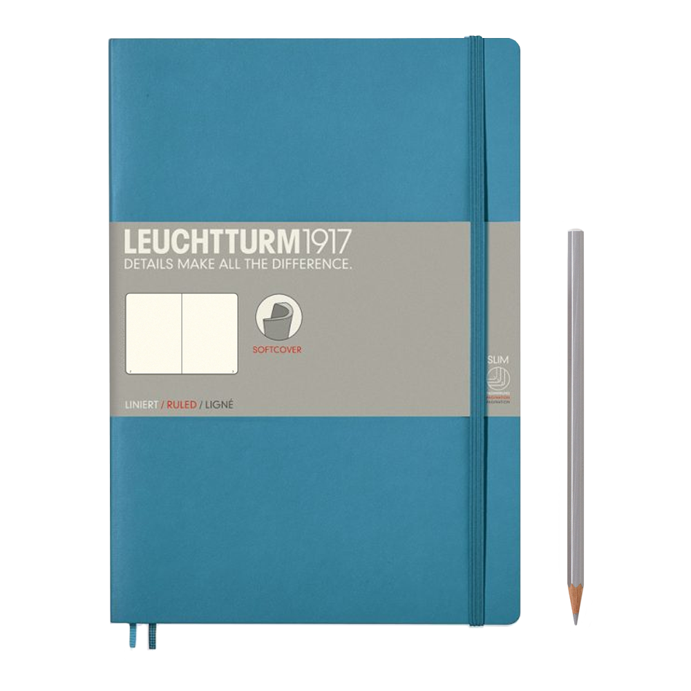 Leuchtturm1917 Composition Softcover Notebook blank nordic blue