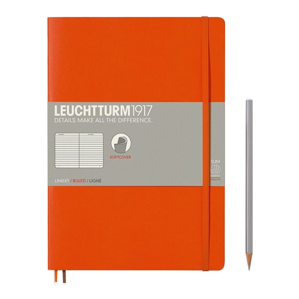 Leuchtturm1917 Composition Softcover Notebook lined orange