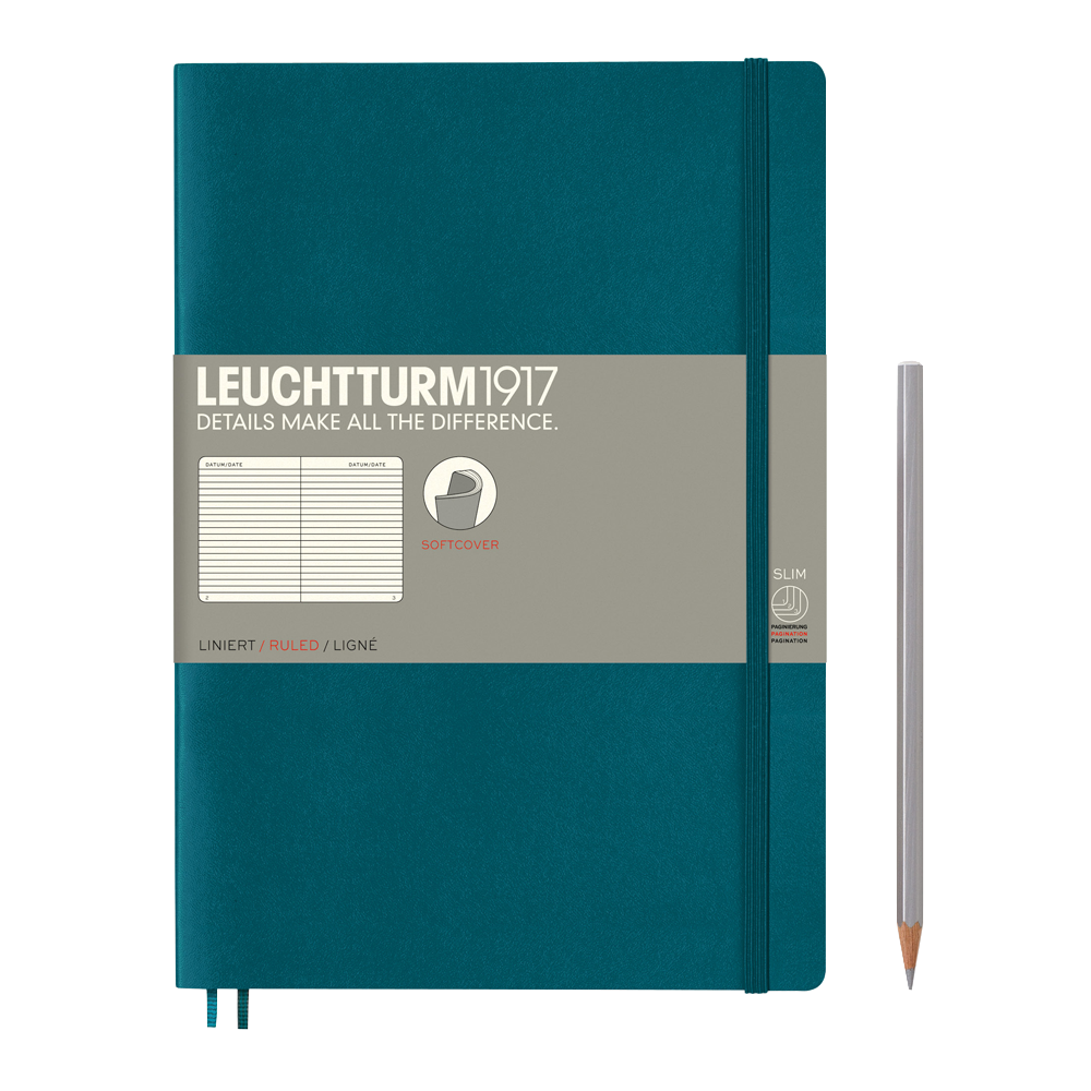 Leuchtturm1917 Composition Softcover Notebook lined pacific green