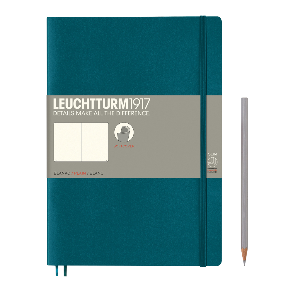 Leuchtturm1917 Composition Softcover Notebook blank pacific green