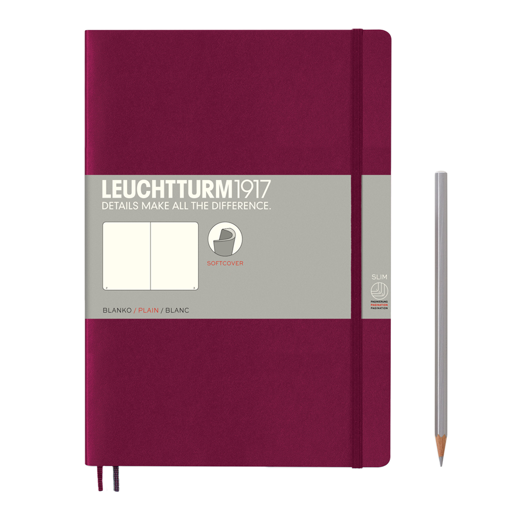 Leuchtturm1917 Composition Softcover Notebook black port red