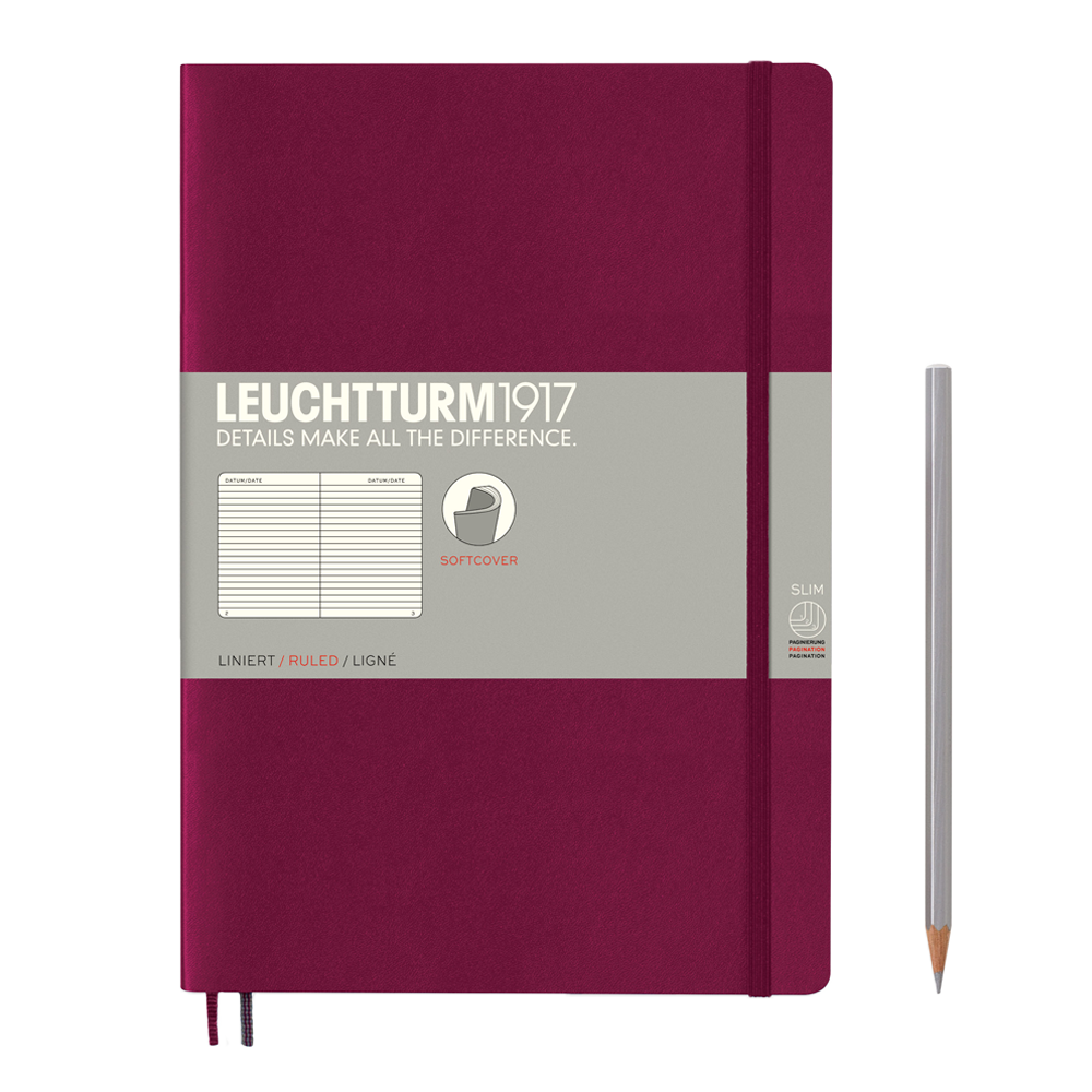 Leuchtturm1917 Composition Softcover Notebook lined port red