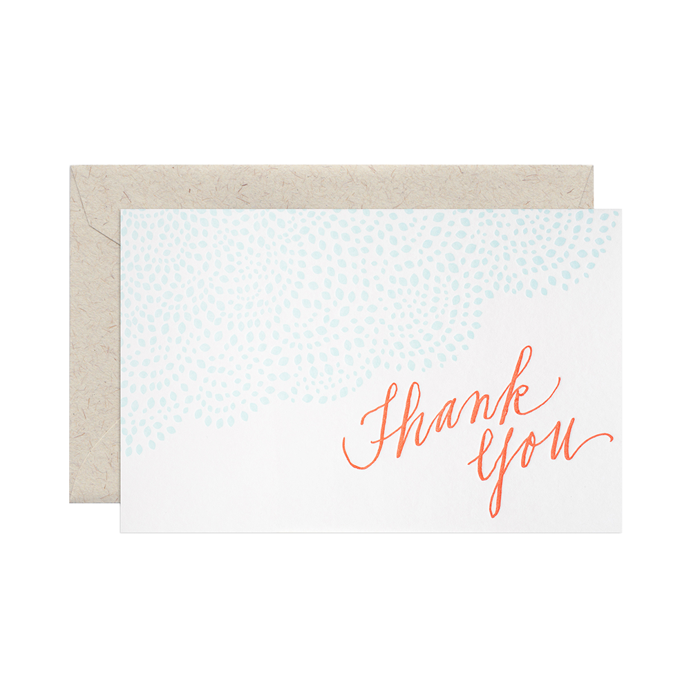 Papaya thank you card set