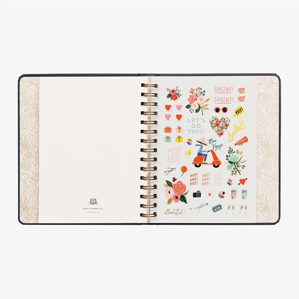 Rifle Paper Co Wild Rose 2020 planner stickers page
