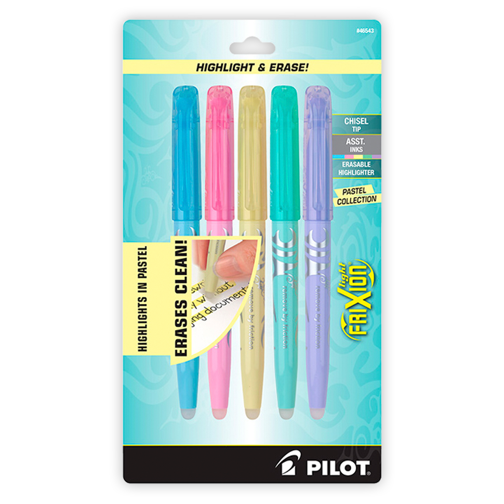 Pilot FriXion Erasable Highlighters Assorted Color 5-pack