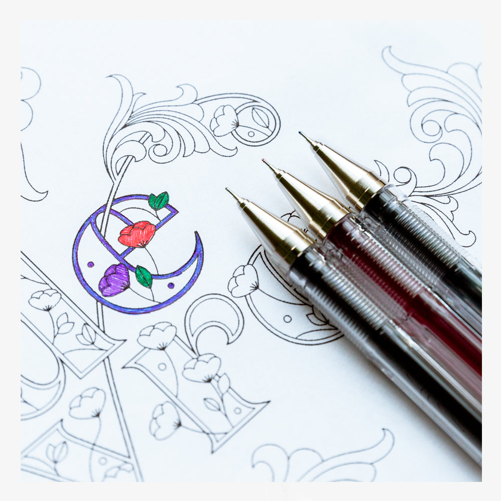 Pilot G-Tec 5 Pack with Coloring Book