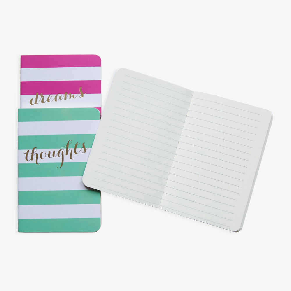 Wide Stripe Pocket Jotters lined pages