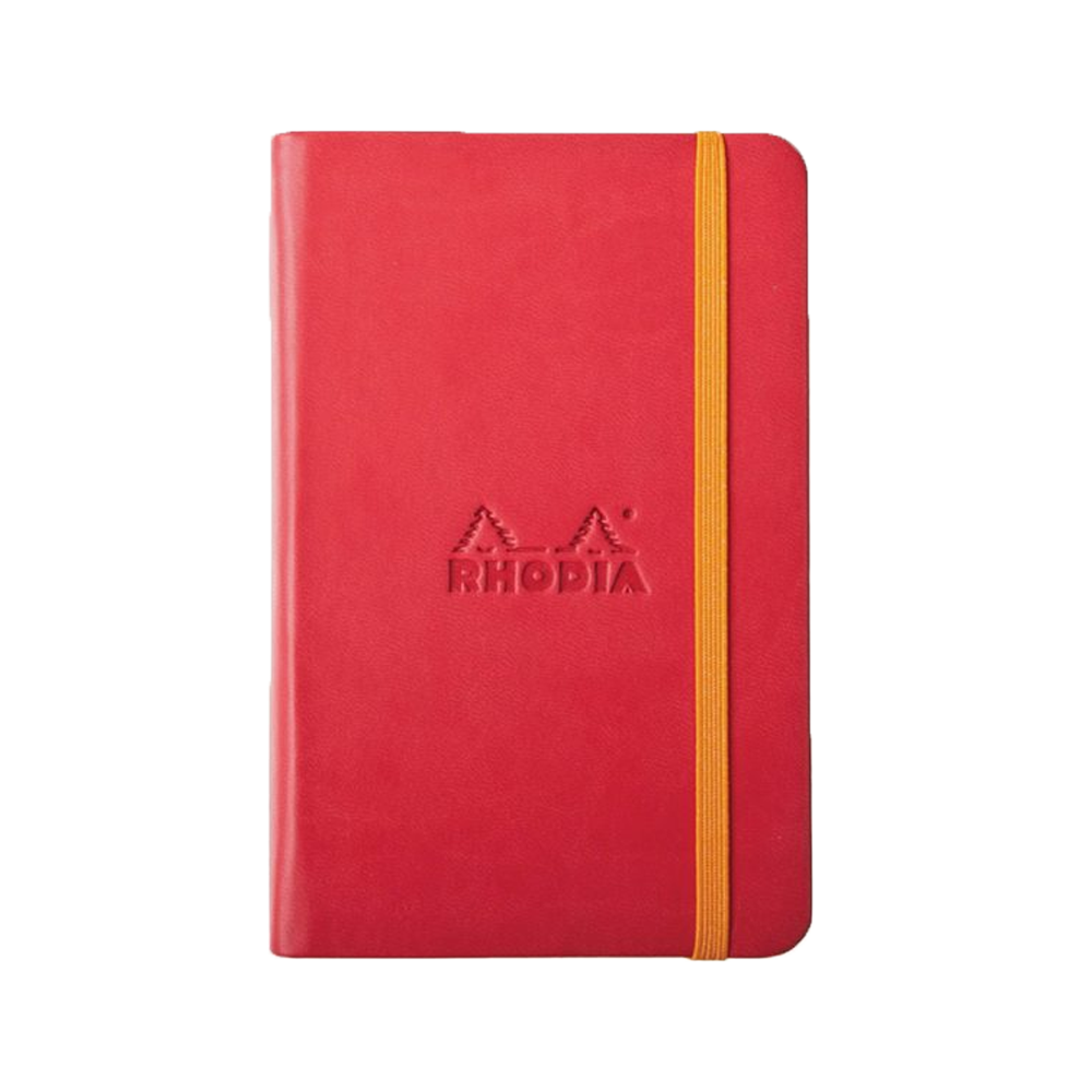Rhodia Leather Webnotebook Small Poppy