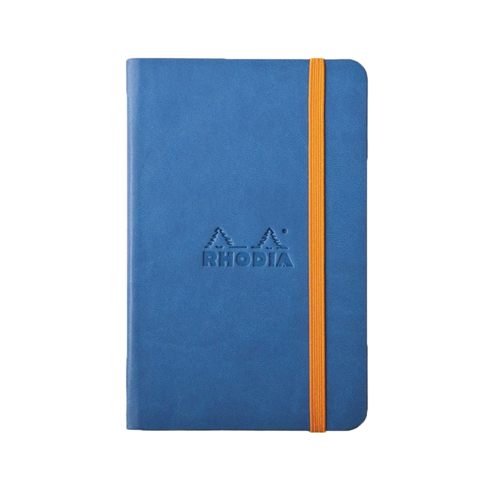 Rhodia Leather Webnotebook Small Sapphire