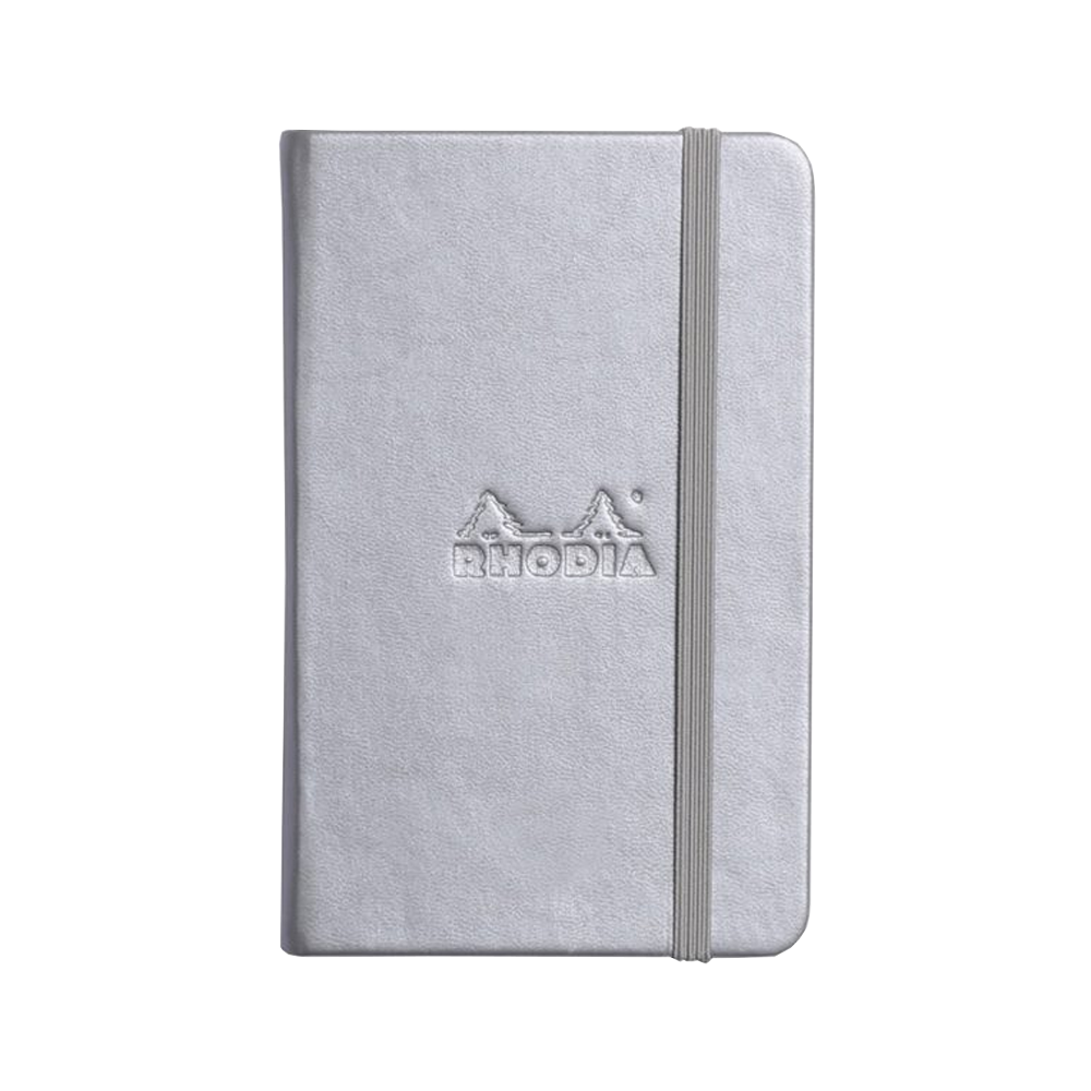 Rhodia Leather Webnotebook Small Silver