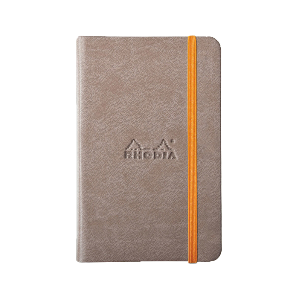 Rhodia Leather Webnotebook Small Taupe