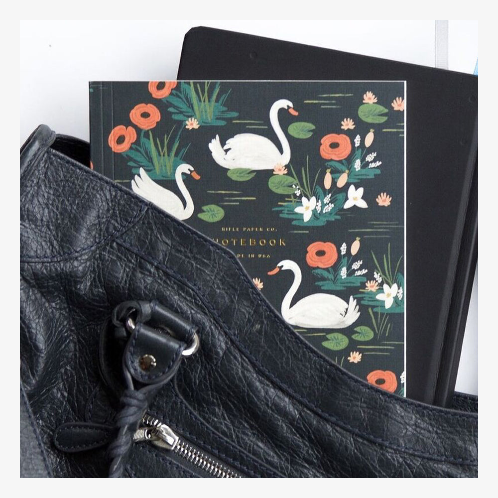 Rifle Paper Co Softcover Notebook Set Birds of a Feather Swan context