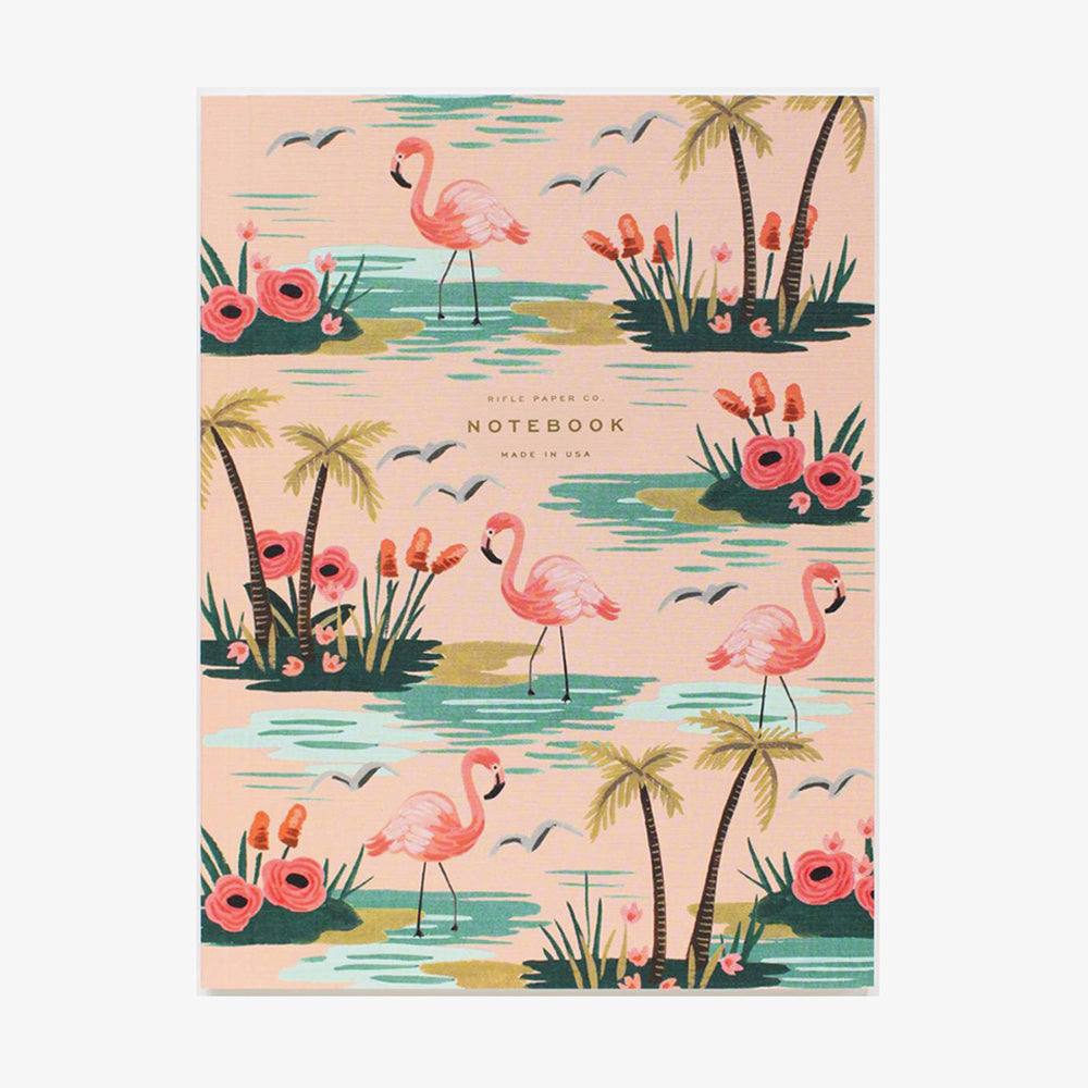 Rifle Paper Co Softcover Notebook Set Birds of a Feather Flamingo