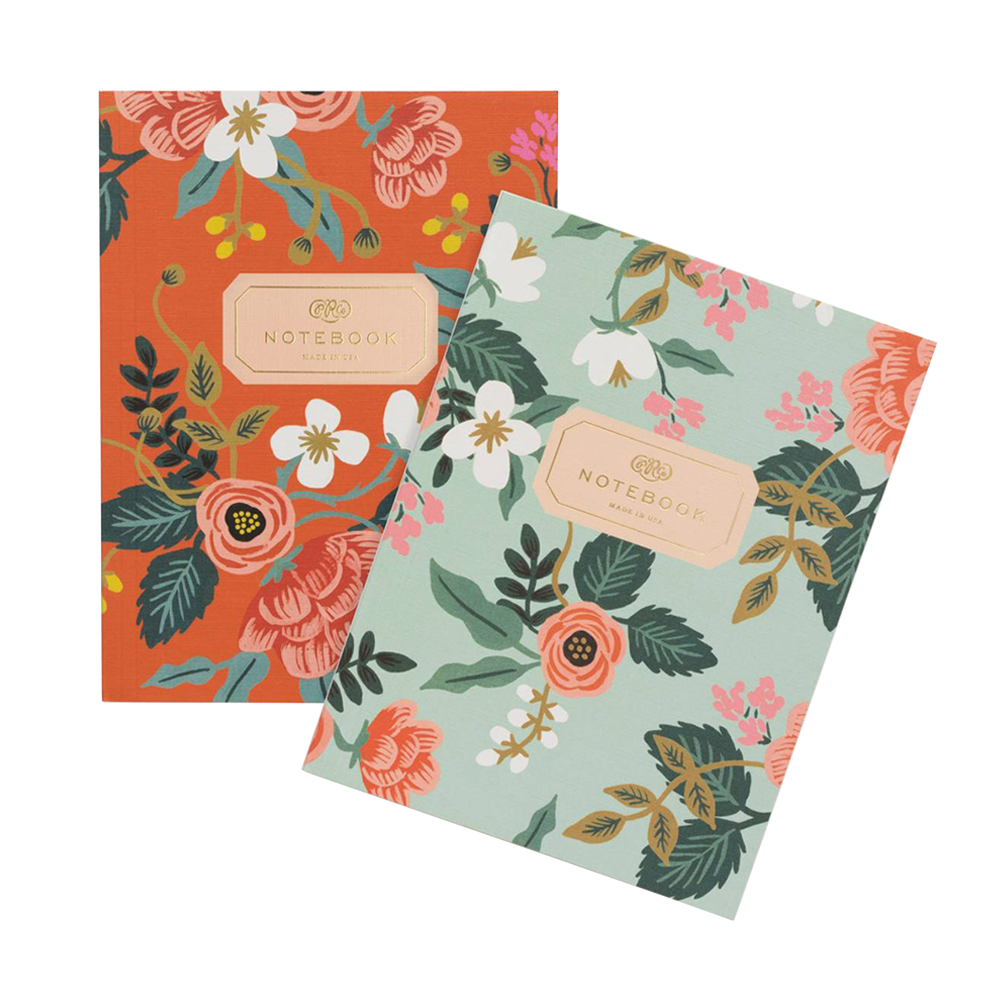 Rifle Paper Co Softcover Notebook Set Birch Orange and Mint