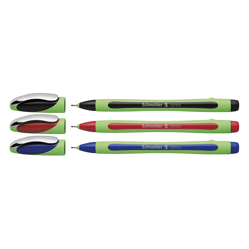 Schneider Fineliner Xpress Pens black red and blue