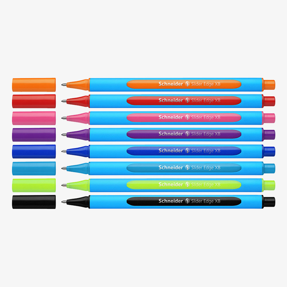 Schneider Slider Edge XB Ballpoint Pen Assorted Color 8-Pack