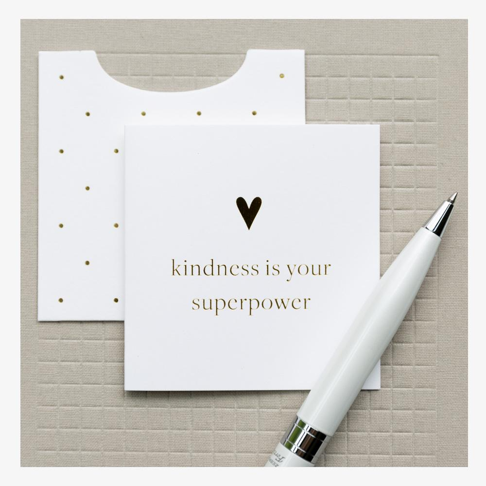 Smitten On Paper Kindness Mini Enclosure Card