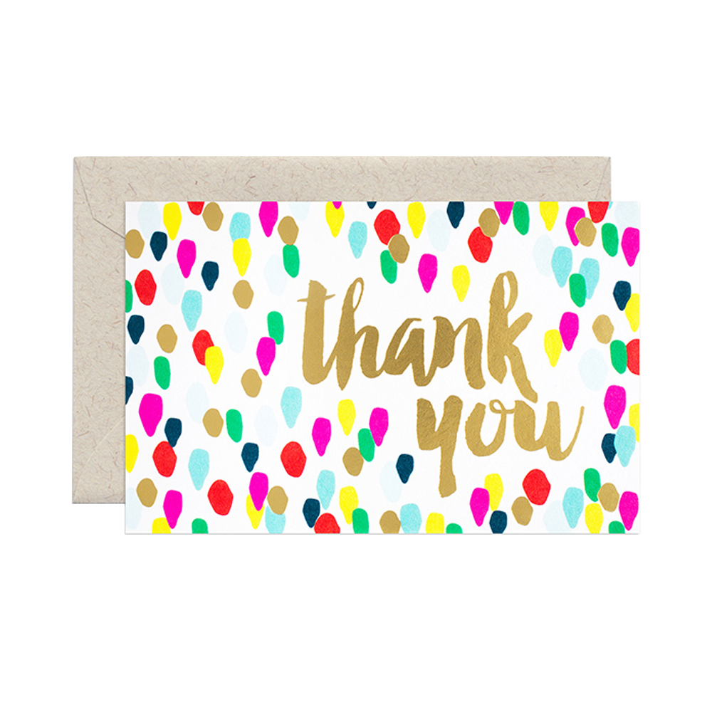 Smock Paper thank you confetti card set