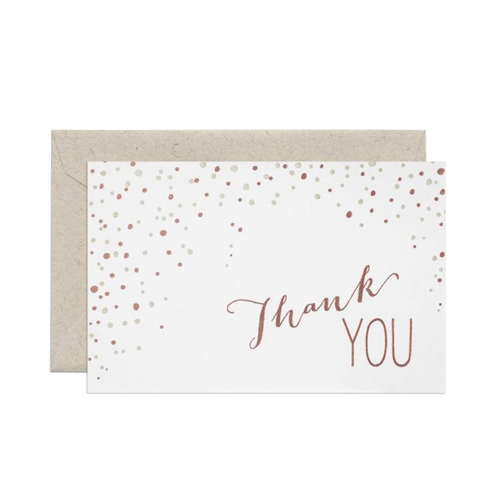 Smock Paper thank you card set