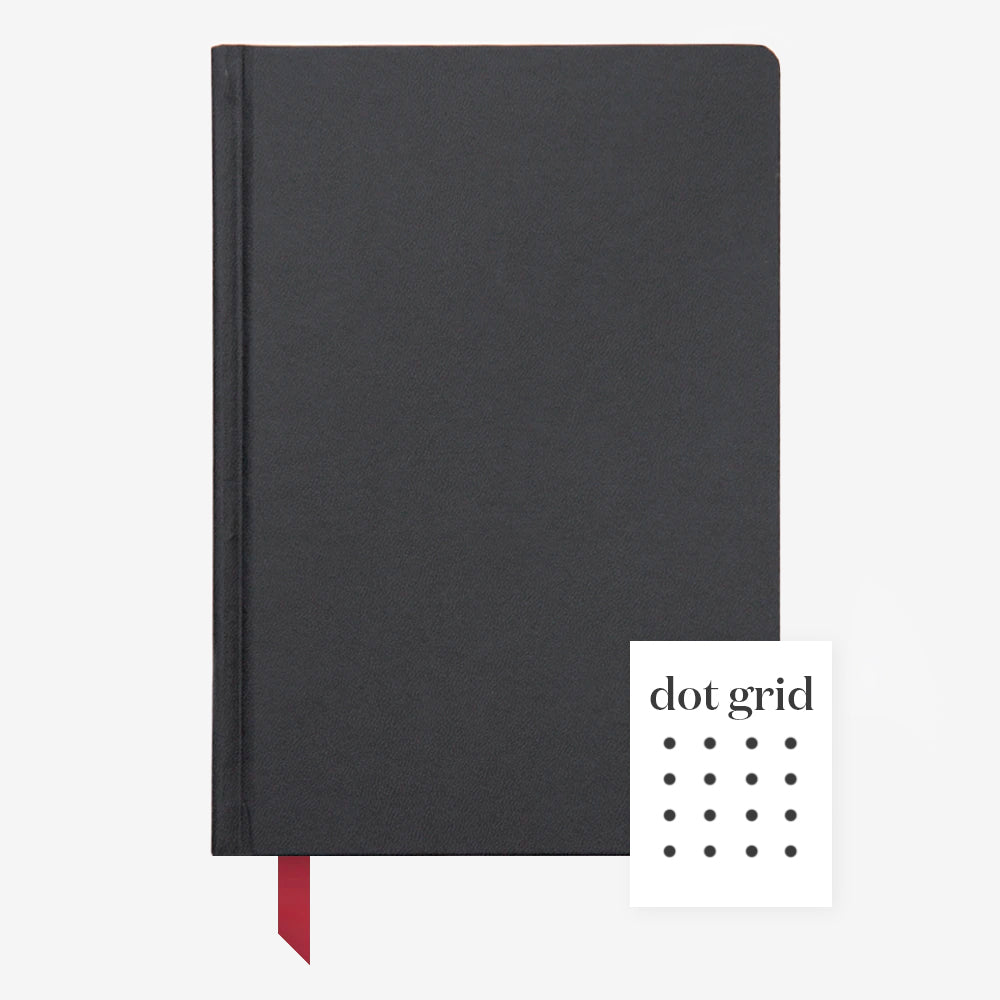 Ink+Volt Hardcover Notebook black dot grid