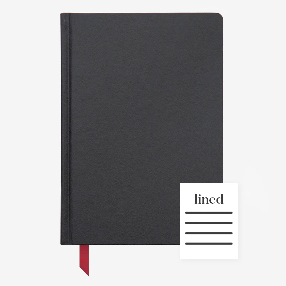 Ink+Volt Hardcover Notebook black lined