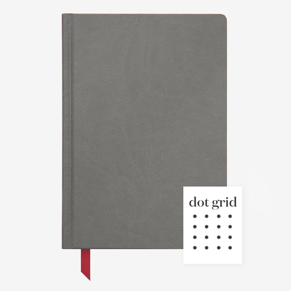 Ink+Volt Hardcover Notebook charcoal dot grid