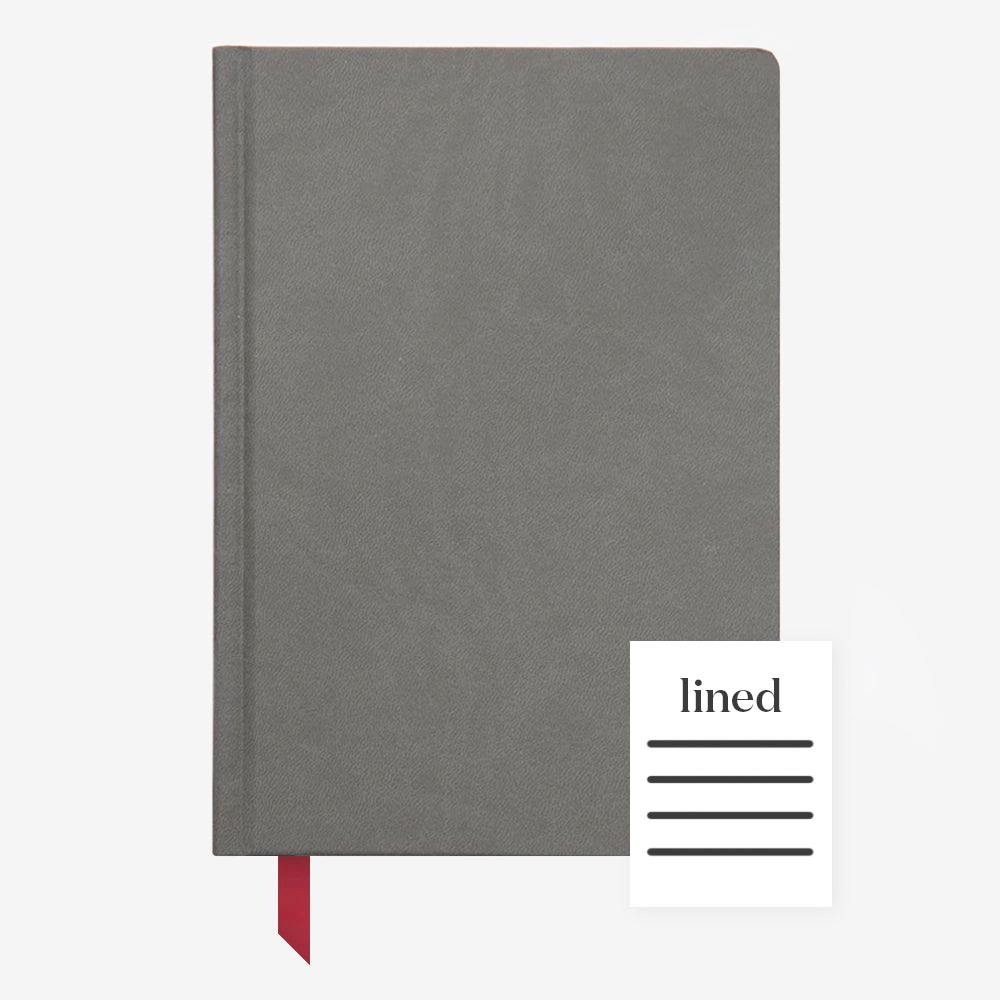Ink+Volt Hardcover Notebook charcoal lined