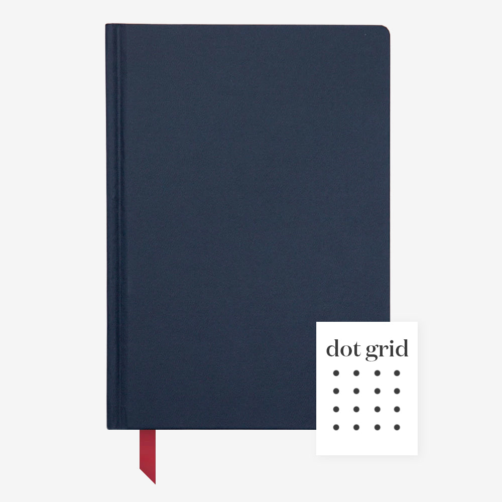 Ink+Volt Hardcover Notebook navy dot grid