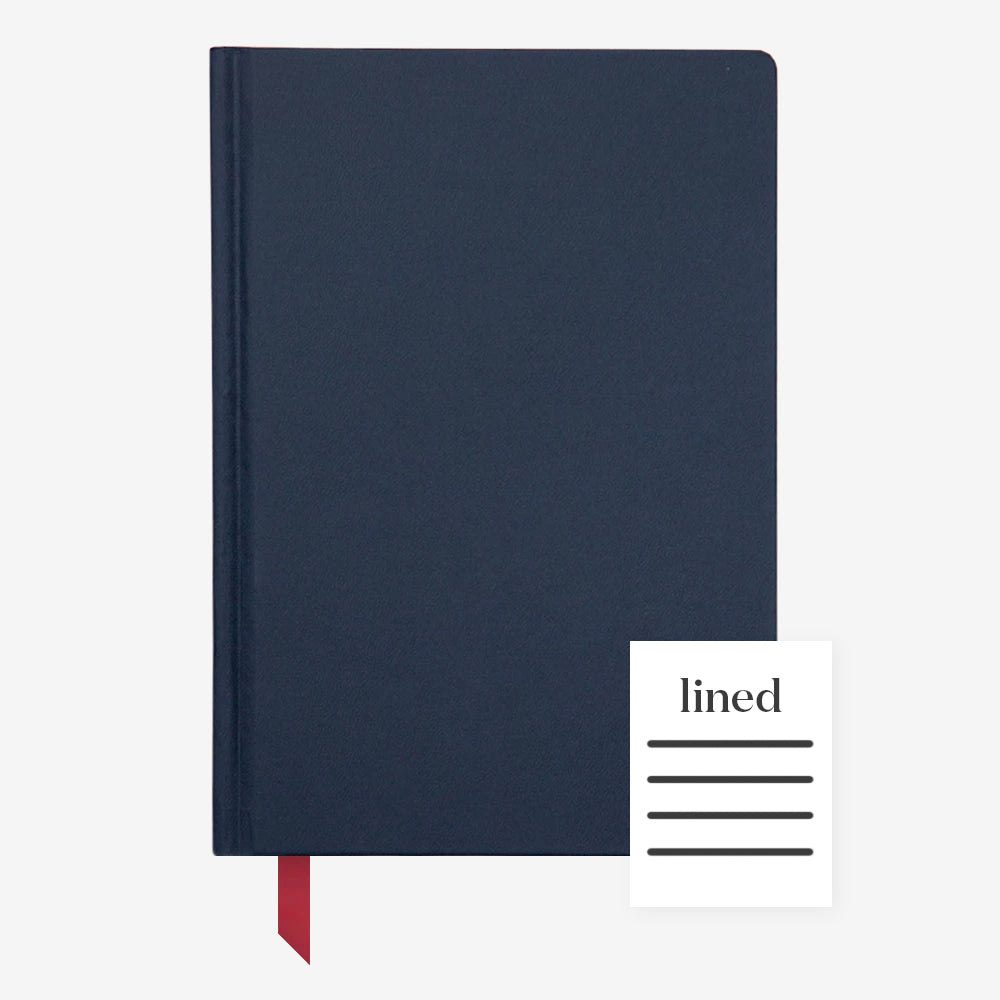 Ink+Volt Hardcover Notebook navy lined