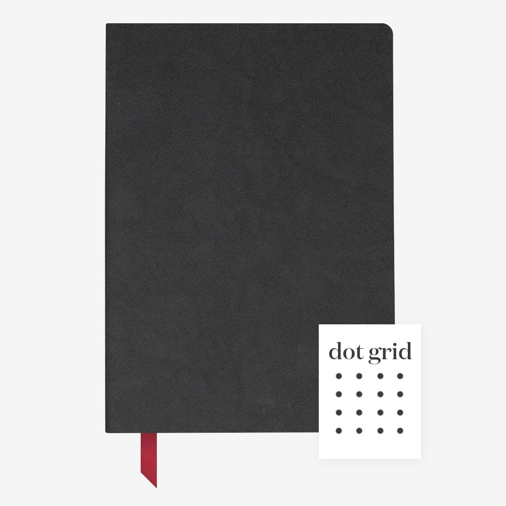 Ink+Volt Softcover Notebook black dotted