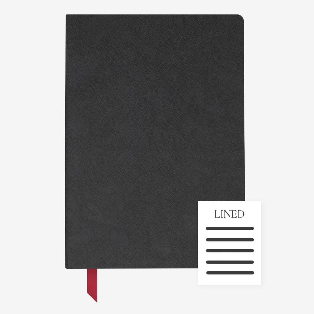 Ink+Volt Softcover Notebook black lined
