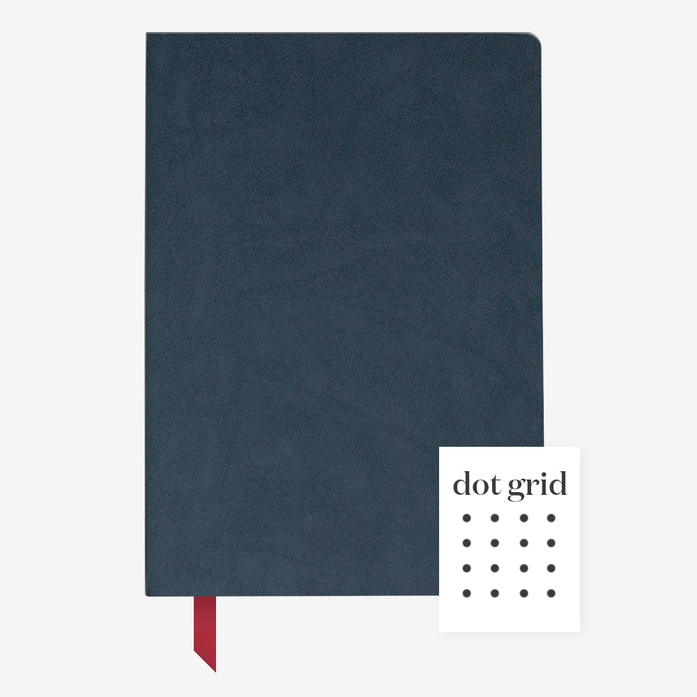 Ink+Volt Softcover Notebook navy dotted
