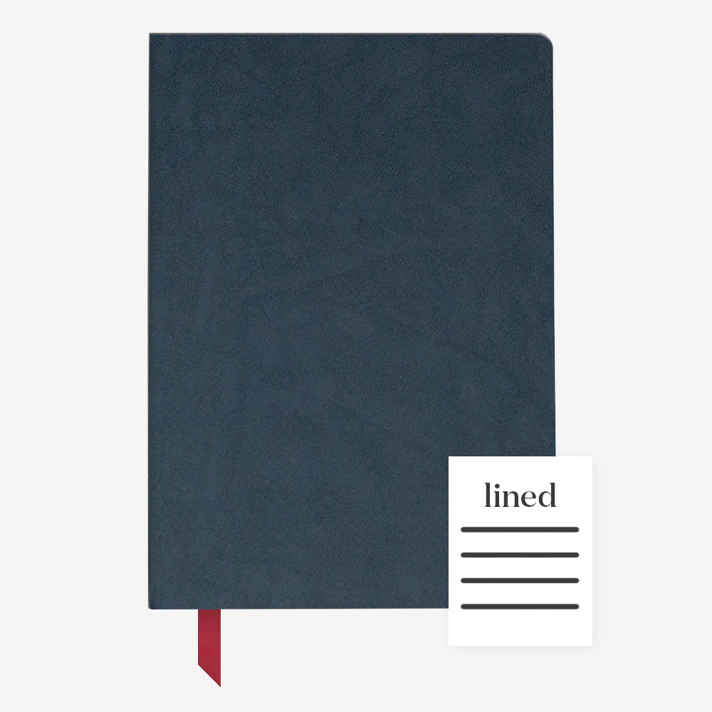Ink+Volt Softcover Notebook navy lined
