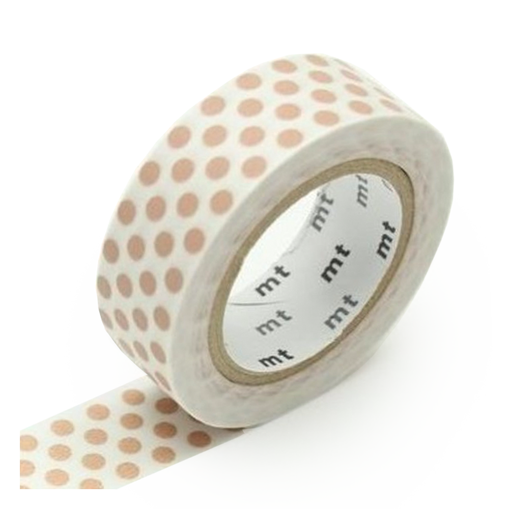 Washi Tape - Miscellaneous dot milk tea