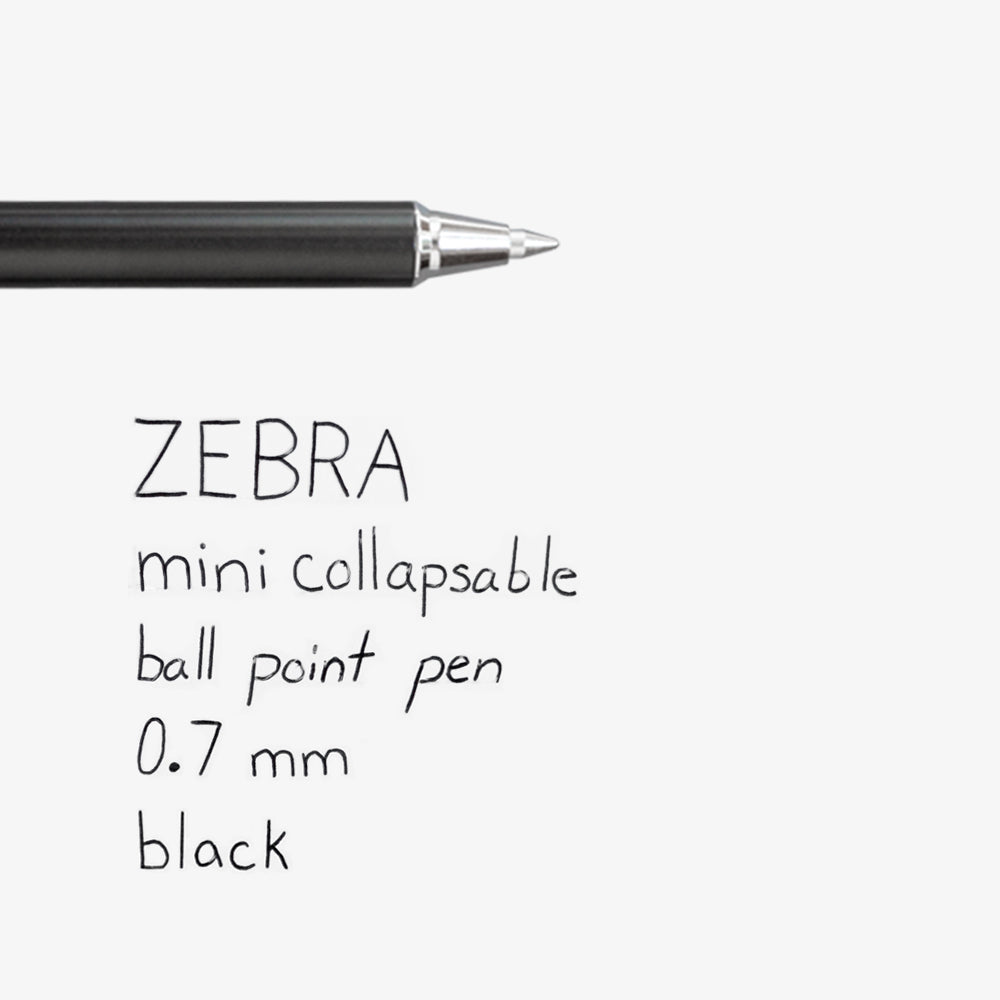 Zebra Mini Collapsable Ballpoint Pen swatch