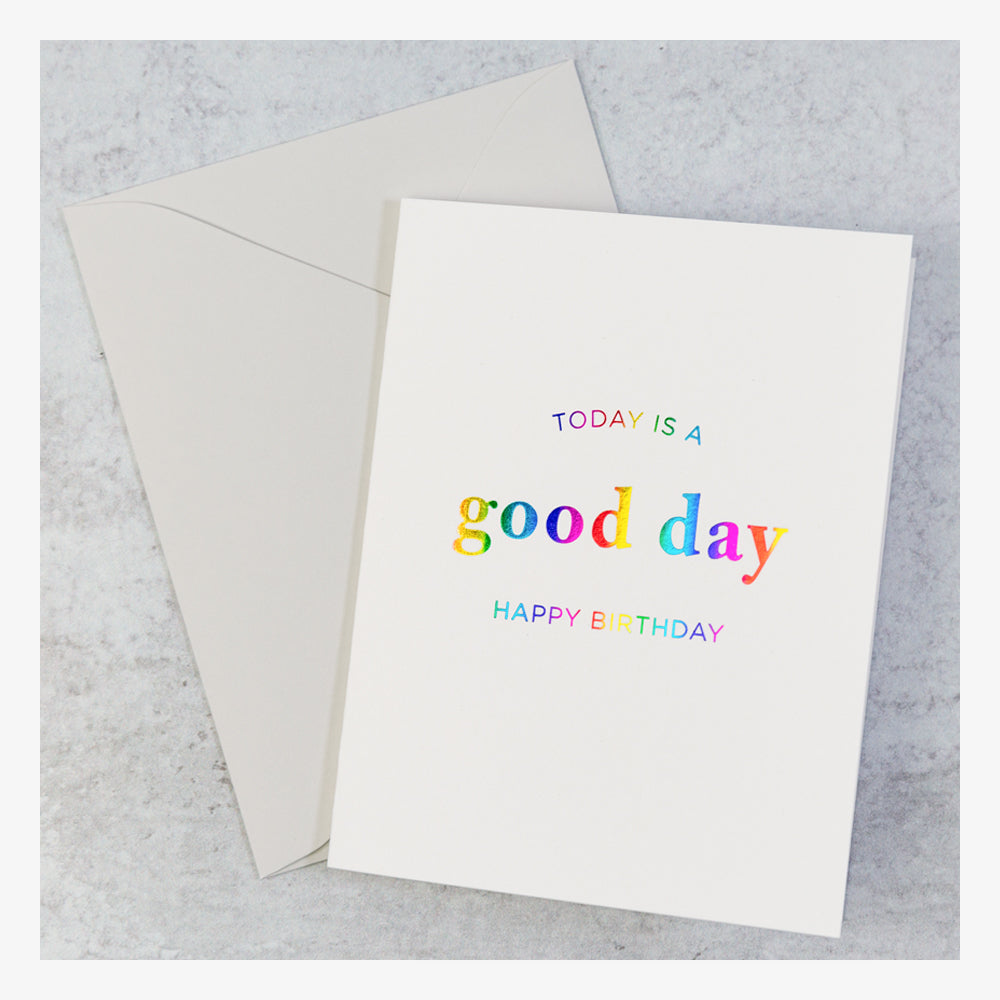 Brights Birthday Card Set - Today is a good day