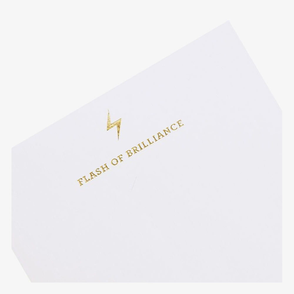 Flash of Brilliance Notepad foil stamped detail