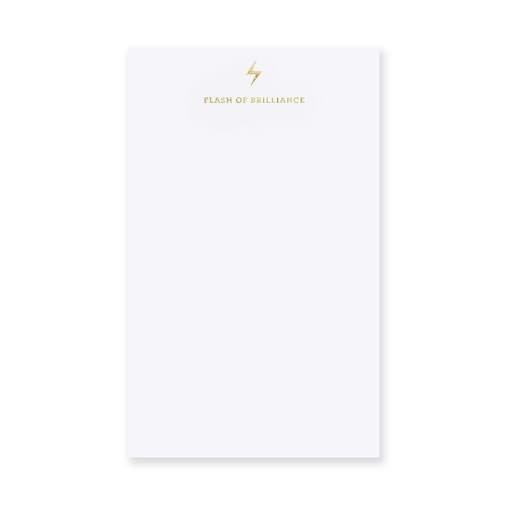 Flash of Brilliance Notepad