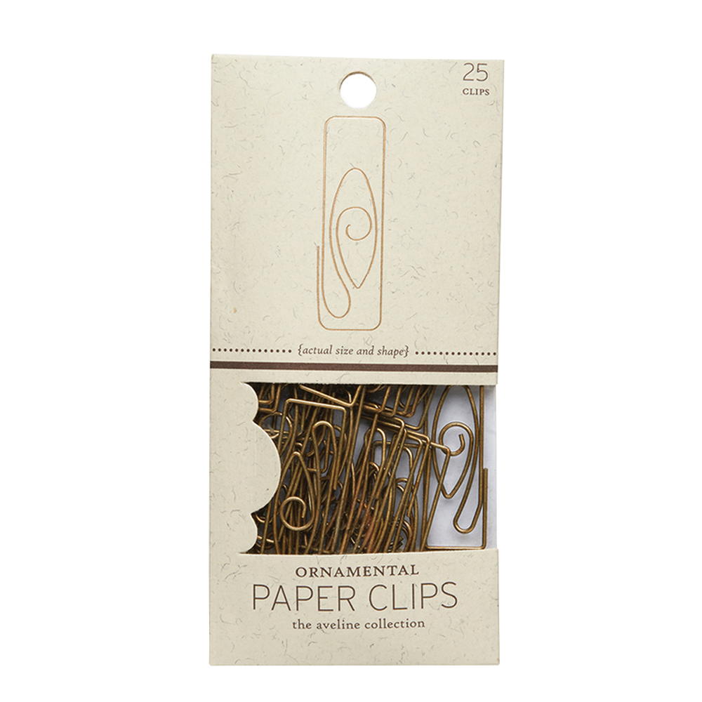 Deco Paper Clips gold 25 set