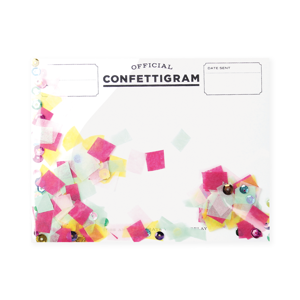 Confettigram Card - Birthday Brights