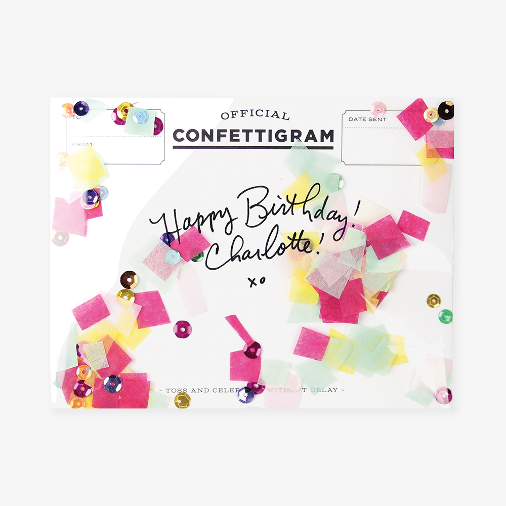 Confettigram™ Card - Birthday Brights