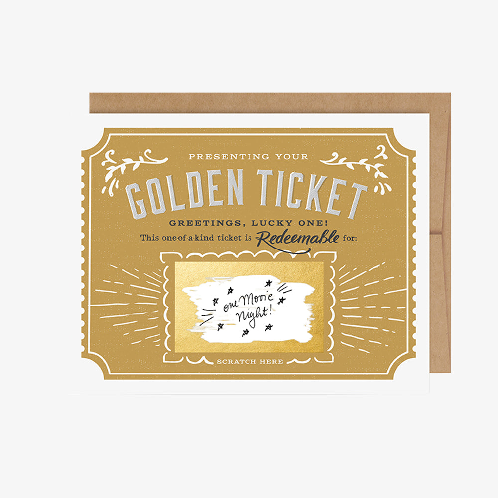 Scratch-Off Card - Golden Ticket